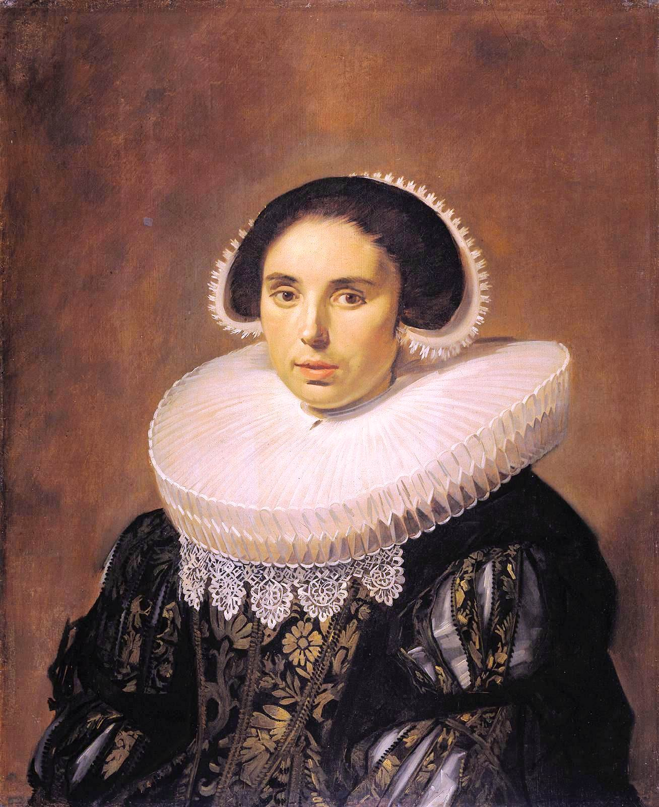Portrait - Painting - Flemish woman with big collar